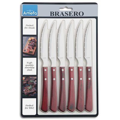 Amefa Steakmessen 6 st Brasero,