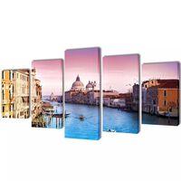 Canvasdoeken Venetië 100 x 50 cm