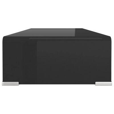 vidaXL Tv-meubel/monitorverhoger zwart 70x30x13 cm glas