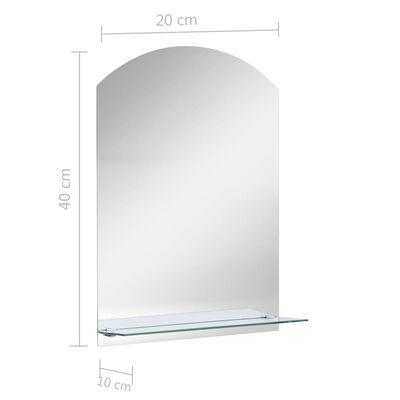 vidaXL Wandspiegel met schap 20x40 cm gehard glas