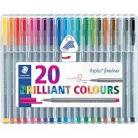 Staedtler fineliner Triplus geassorteerde kleuren, opstelbare box m...