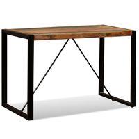vidaXL Eettafel 120 cm massief gerecycled hout