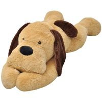 vidaXL Knuffelbeest hond 160 cm pluche bruin