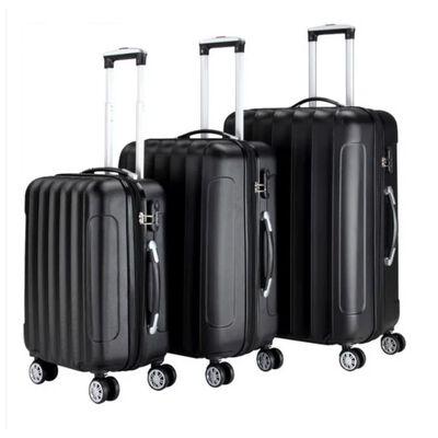 Monzana 3 Delige Kofferset Business Abs Zwart  42l - 66l - 98l