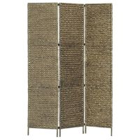 vidaXL Kamerscherm met 3 panelen 116x160 cm waterhyacint bruin