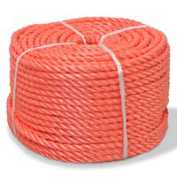 vidaXL Touw gedraaid 10 mm 250 m polypropyleen oranje