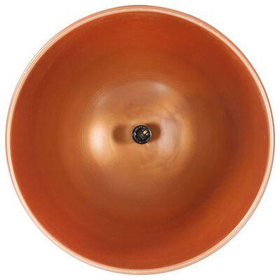 vidaXL Hanglamp industrieel rond E27 42 cm mangohout koperkleurig, Copper
