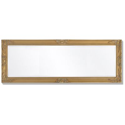 vidaXL Wandspiegel Barok 140 x 50 cm goud