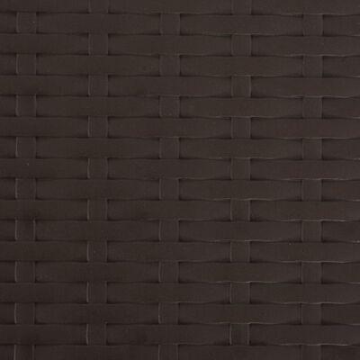vidaXL Tuinstoelen inklapbaar 4 st HDPE en staal bruin
