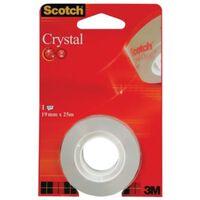 Scotch Plakband Crystal ft 19 mm x 25 m, blister met 1 rolletje
