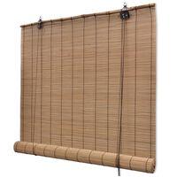 vidaXL Rolgordijn 150x160 cm bamboe bruin
