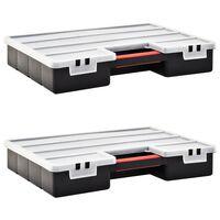 vidaXL Assortimentsdozen 2 st met verdelers 460x325x80 mm kunststof