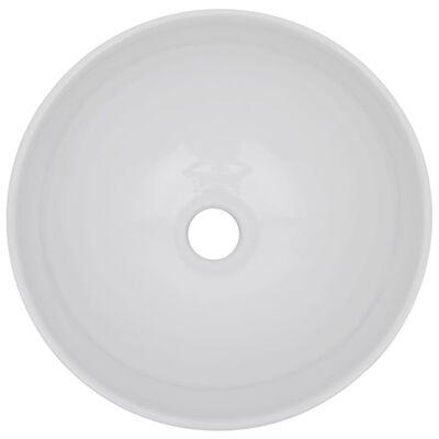 vidaXL 2-delige Badkamermeubelset keramiek eikenkleurig