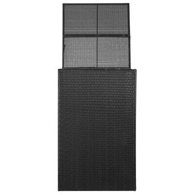 vidaXL Containerberging enkel 76x78x120 cm poly rattan zwart