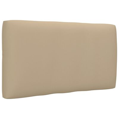 vidaXL Bankkussen pallet 70x40x12 cm beige