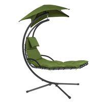 Sobuy Ogs39-gr Ligbed Met Parasol Zonneluifel Hangstoel - Groen