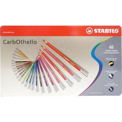 STABILO CarbOthello Kalk-Pastel Kleurpotloden - Metalen Etui 48 stuks