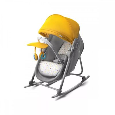 Kinderkraft Wieg/wipstoel 5-in-1 UNIMO geel