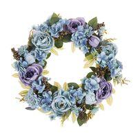 Beliani Galdar - Krans-blauw-polyester