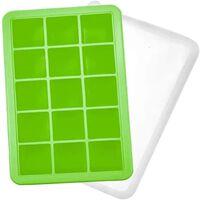 Ijsvorm 15 Blokjes Silicone Groen