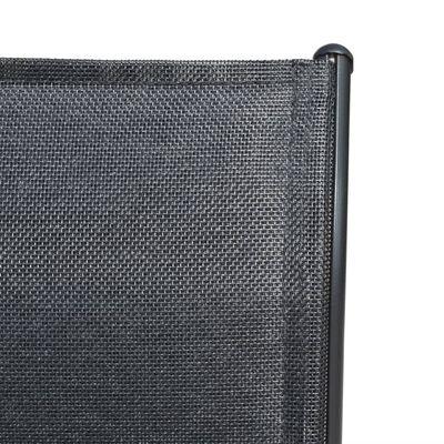 vidaXL Tuinstoelen stapelbaar 4 st staal en textileen zwart