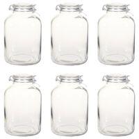 vidaXL Jampotten met sluiting 6 st 5 L glas