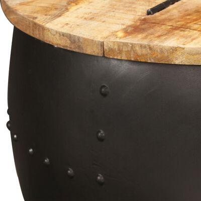 vidaXL Salontafel rond 53x43 cm massief mangohout ,