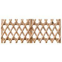 vidaXL Poorten 2 st 300x80 cm geïmpregneerd grenenhout
