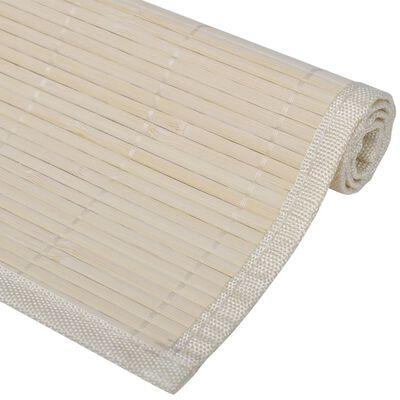 6 Placemats bamboe 30 x 45 cm natuurlijk