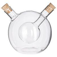 Decopatent 2in1 Olie en Azijnstel glas - Bolvorm met kurken - Glazen