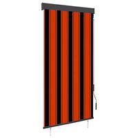 vidaXL Rolgordijn voor buiten 80x250 cm oranje en bruin