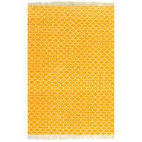 vidaXL Kelim vloerkleed met patroon 120x180 cm katoen geel