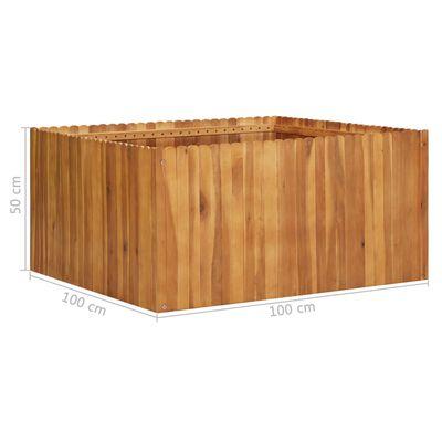 vidaXL Plantenbak verhoogd 100x100x50 cm massief acaciahout