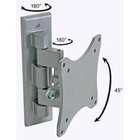 Perel Draaibare montagebeugel voor flatscreen 25-38 cm zilver CWB008