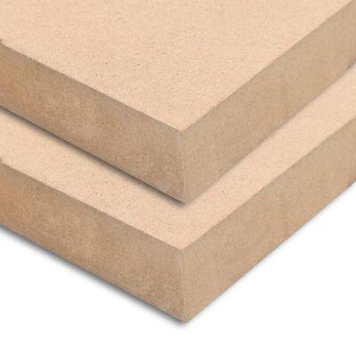 vidaXL MDF platen vierkant 60x60 cm 25 mm 2 st