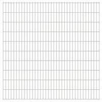 vidaXL Dubbelstaafmatten 2,008x2,03 m 44 m (totale lengte) zilverkleur
