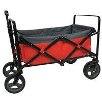 Outdoor Opvouwbare Bolderwagen Rood/Grijs/Zwart