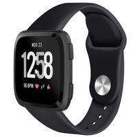 Fitbit Versa Armband Rubber - Zwart - S