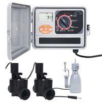 vidaXL Irrigatieregelaar met regensensor en magneetventiel