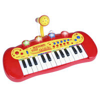 Bontempi Speelgoedkeyboard elektronisch met microfoon 24 toetsen