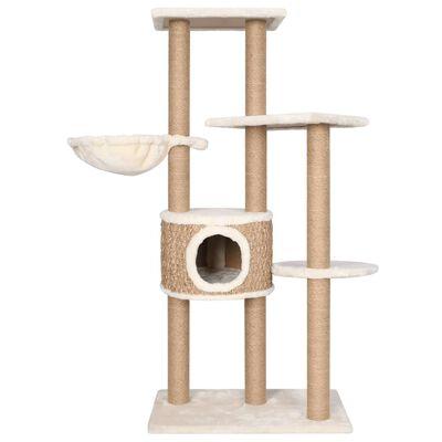 vidaXL Kattenmeubel met krabpalen 126 cm zeegras