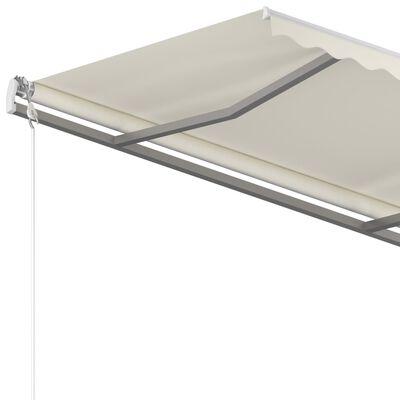 vidaXL Luifel vrijstaand handmatig uittrekbaar 350x250 cm crèmekleurig