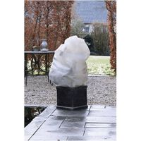 Winterafdekhoes met koord beige dia. 75cmx1,50m 50 g/m2 set a 2 stuks