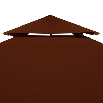 vidaXL Prieeldak 2 lagen 310 g/m² 3x3 m terracotta