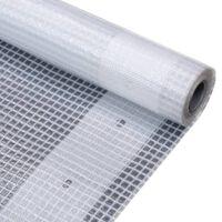 vidaXL Leno dekzeil 260 g/m² 1,5x15 m wit