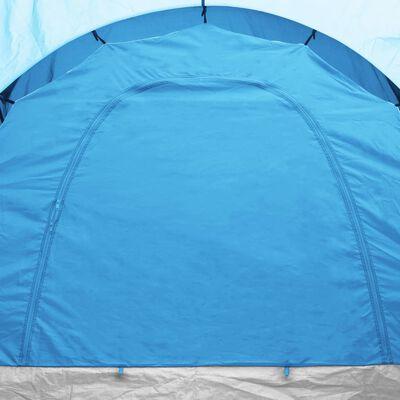 vidaXL Tent 6-persoons blauw en lichtblauw