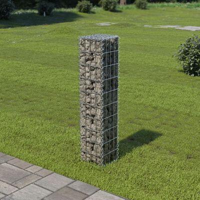 vidaXL Schanskorfmuur met deksels 20x20x100 cm gegalvaniseerd staal