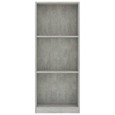 vidaXL Boekenkast met 3 schappen 40x24x108 cm spaanplaat betongrijs