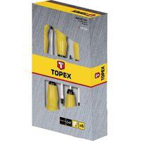 TOPEX schroevendraaierset 6dlg slagvast extra gehard