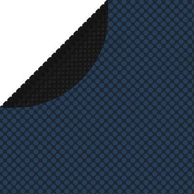 vidaXL Zwembadfolie solar drijvend 356 cm PE zwart en blauw